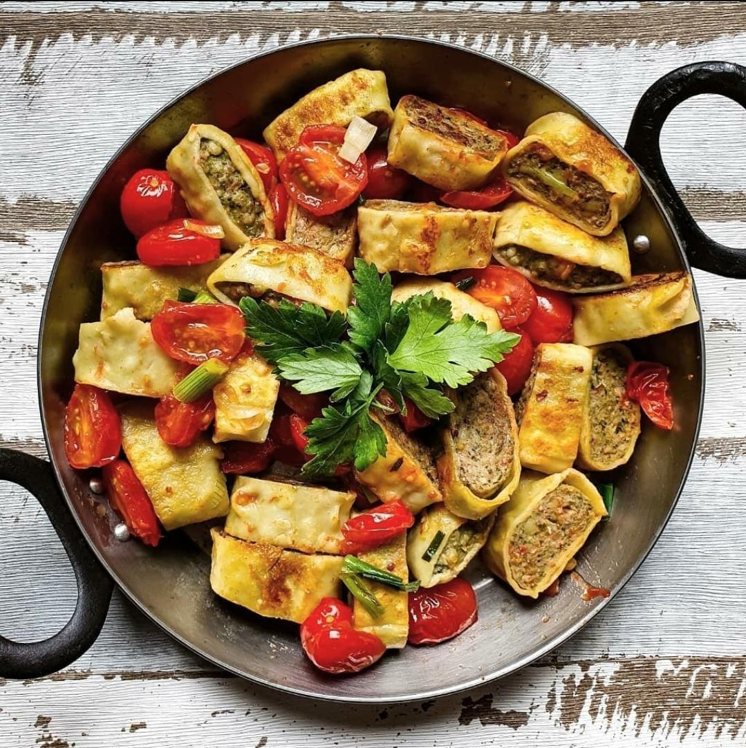 gebratene maultaschen mit tomaten my tastyworld